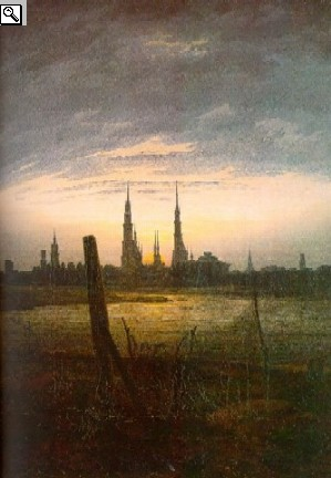 C. D.Friedrich: City at moonrise (1817) Oskar Reinhart Foundation, Winterthur