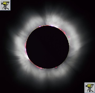 Foto dell'eclissi totale avvenuta l'11 agosto 1999 e filmati dell'eclissi visibile nel 1995 in India, in cui si vede l'anello di diamante e dell'eclissi totale  avvenuta in Egitto il 18 luglio 2006